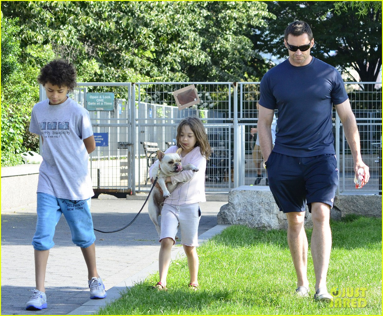 hugh jackman fathers day walk 142676350