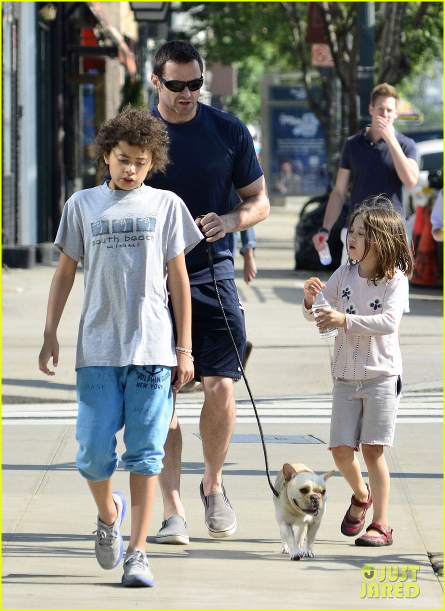 hugh jackman fathers day walk 172676353