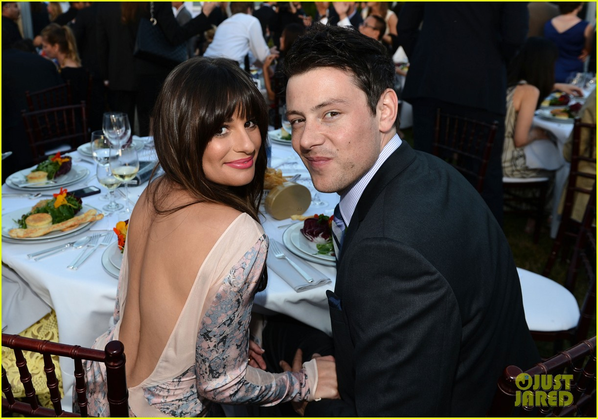 lea michele chrysalis butterfly ball with cory monteith 022673100
