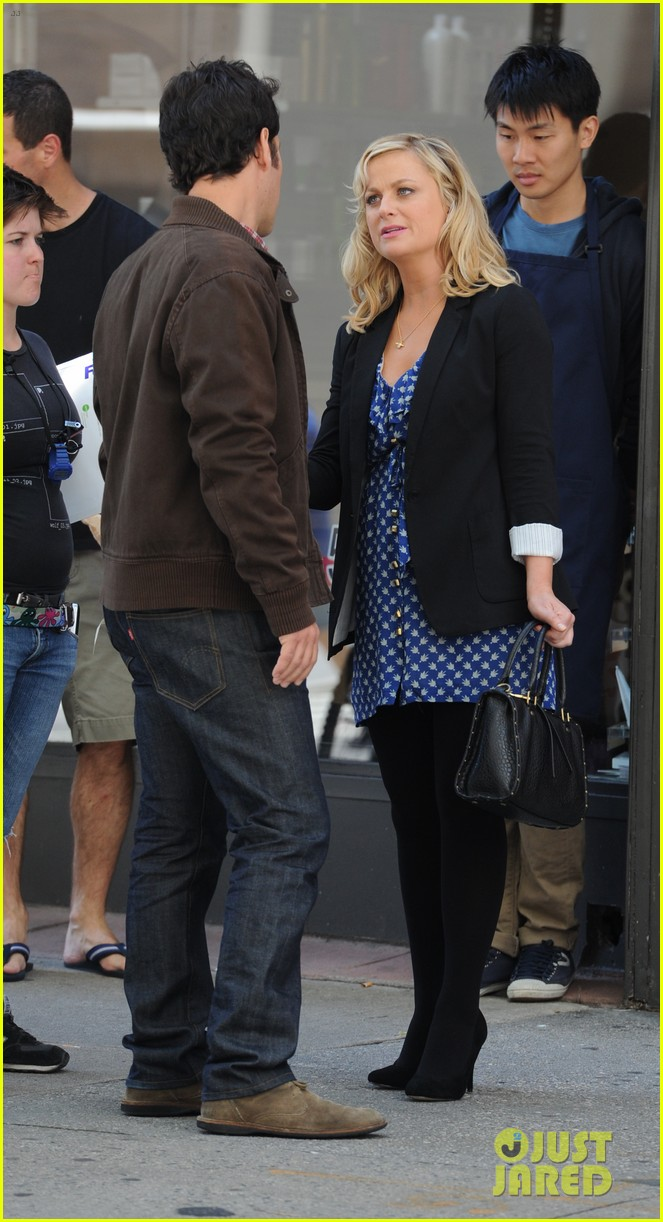 amy poehler they came together set with paul rudd 072680757