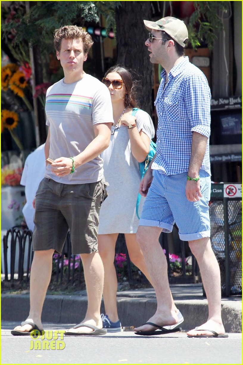 Photo of Jonathan Groff & his friend  Zachary Quinto