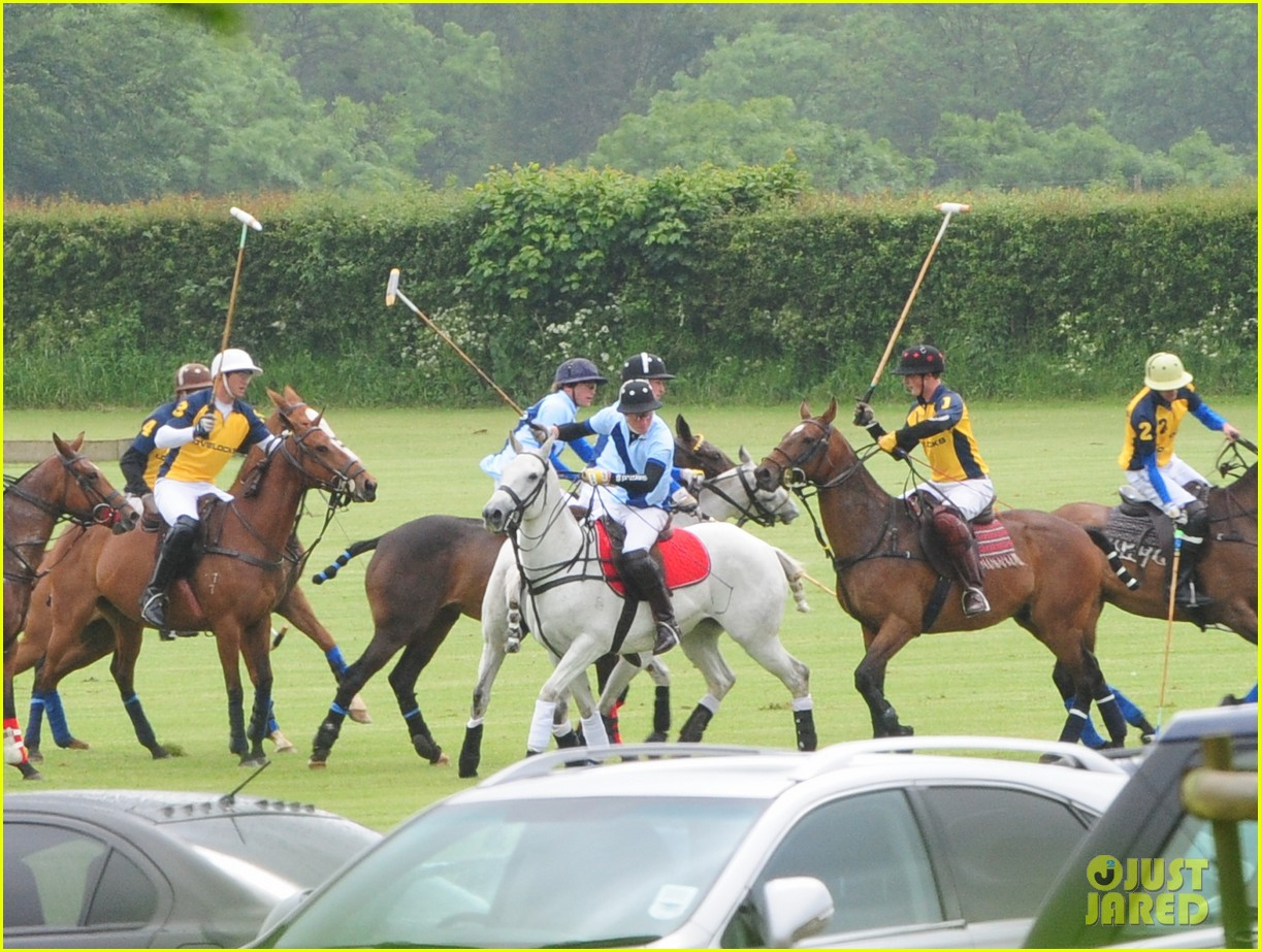 princes harry william charity polo match 092675877