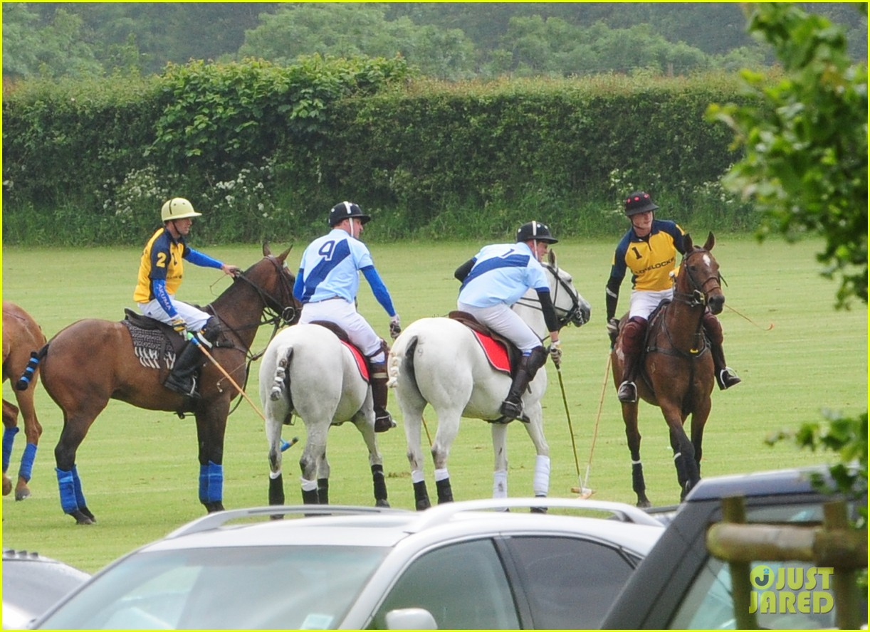 princes harry william charity polo match 11