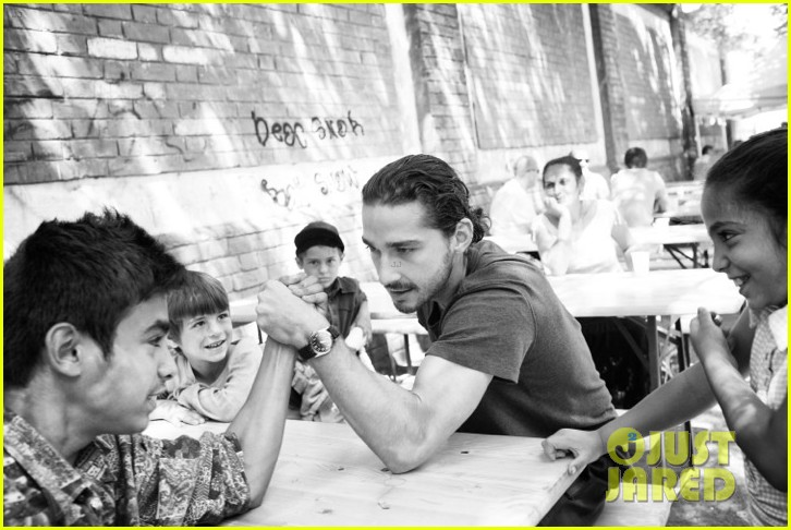 Shia LaBeouf: Raising Awareness for Roma Children: Photo