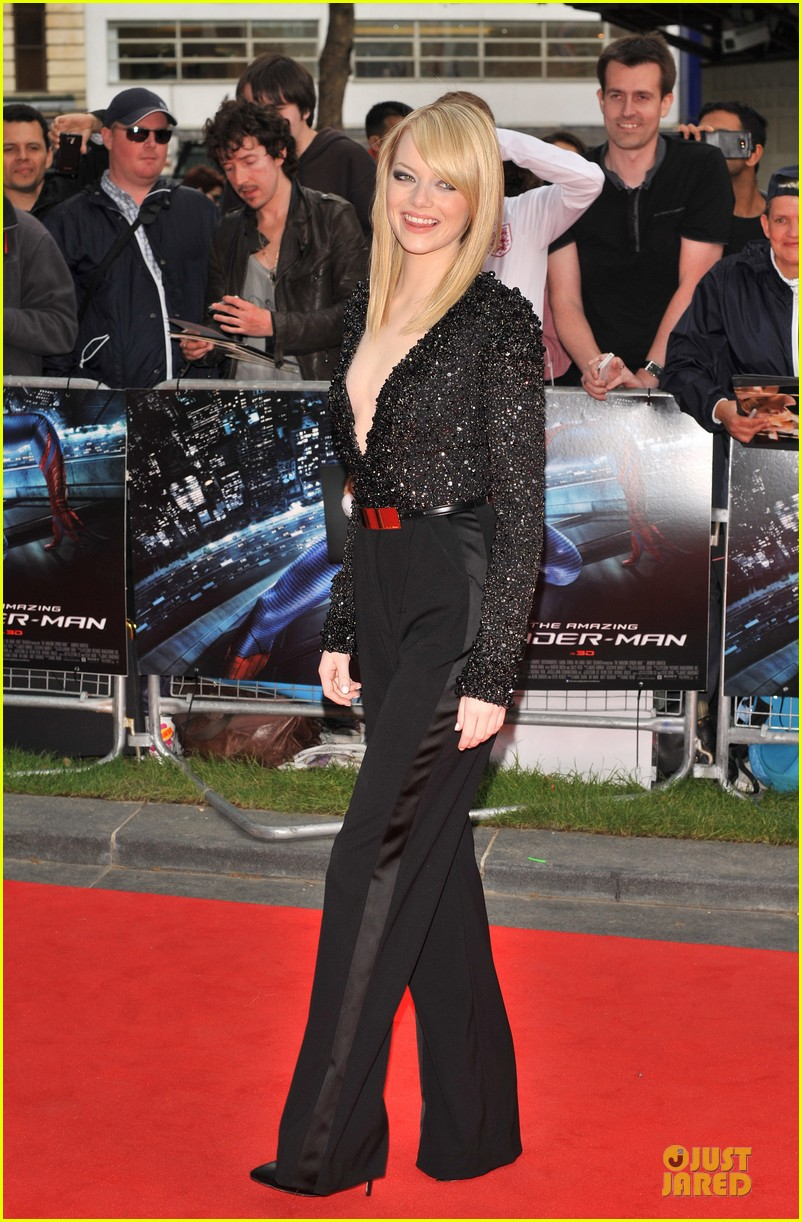 emma stone andrew garfield spider man london 092676663