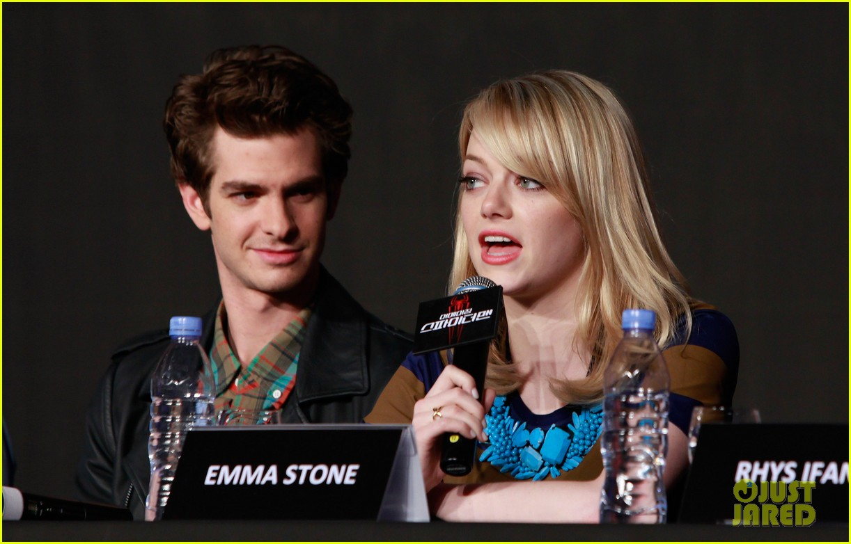 emma stone andrew garfield south korea press conference 20