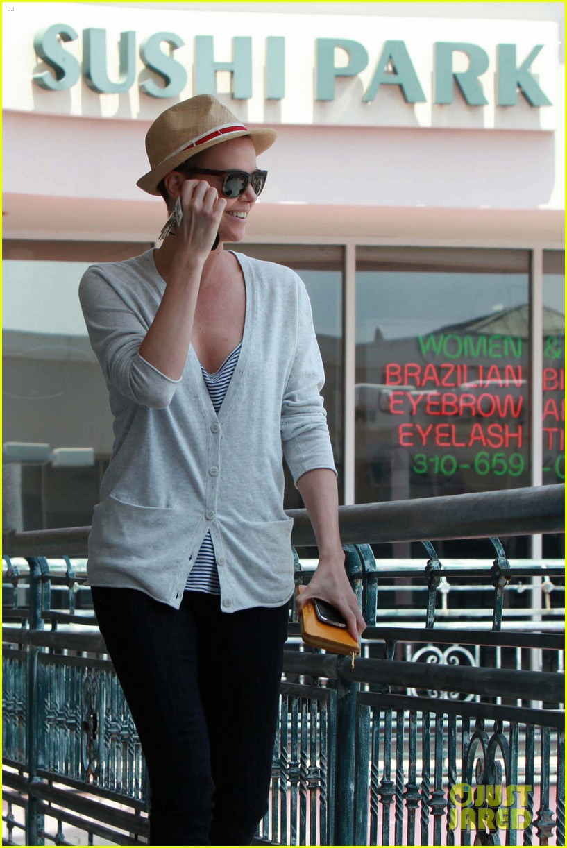 charlize theron sushi park lunch stop 052675261