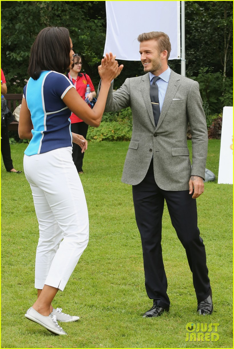 michelle obama david beckham prep for london olympics 05