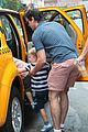 matt bomer hails a cab with henry walker 05