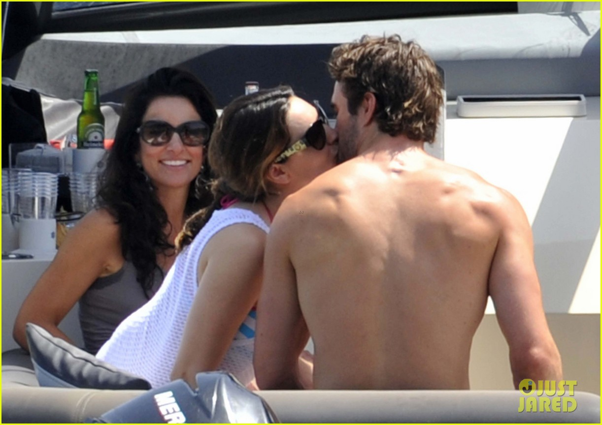 kelly brook thom evans ischia boat ride 222686465