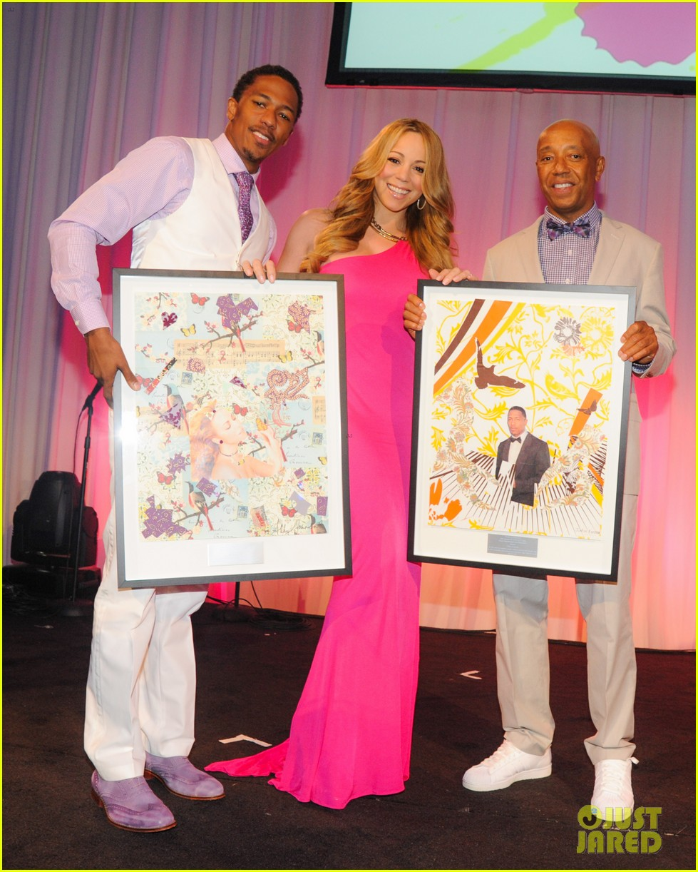 mariah carey art for life gala with nick cannon 01