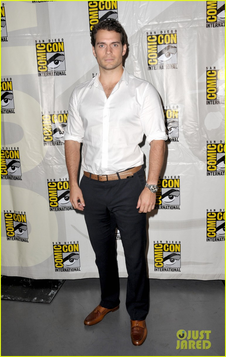 henry cavill man of steel panel at comic con 012687762