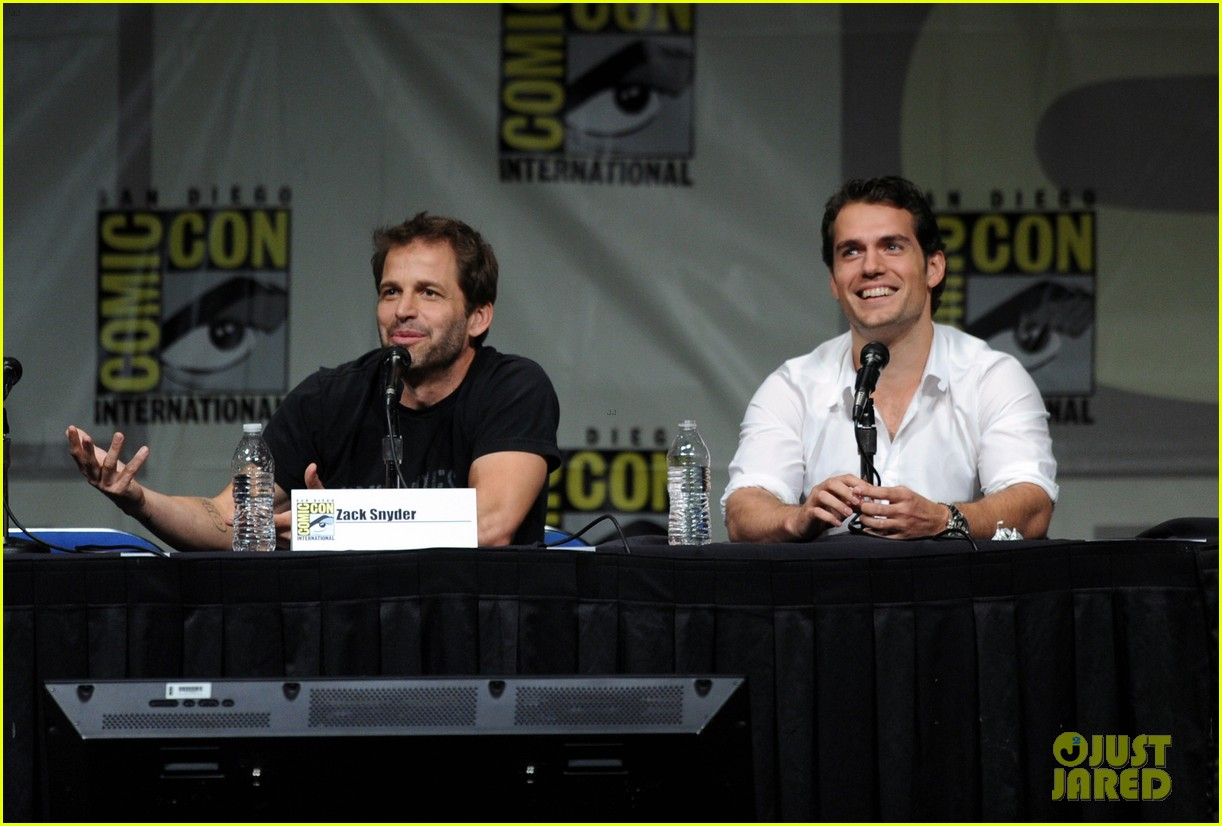 henry cavill man of steel panel at comic con 022687763