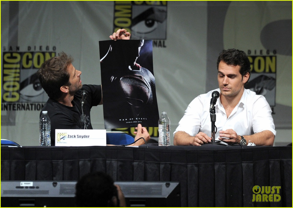 henry cavill man of steel panel at comic con 062687767