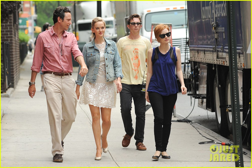 Jessica Chastain: 'Eleanor Rigby' Set with Chaplin! Jessica Chastain