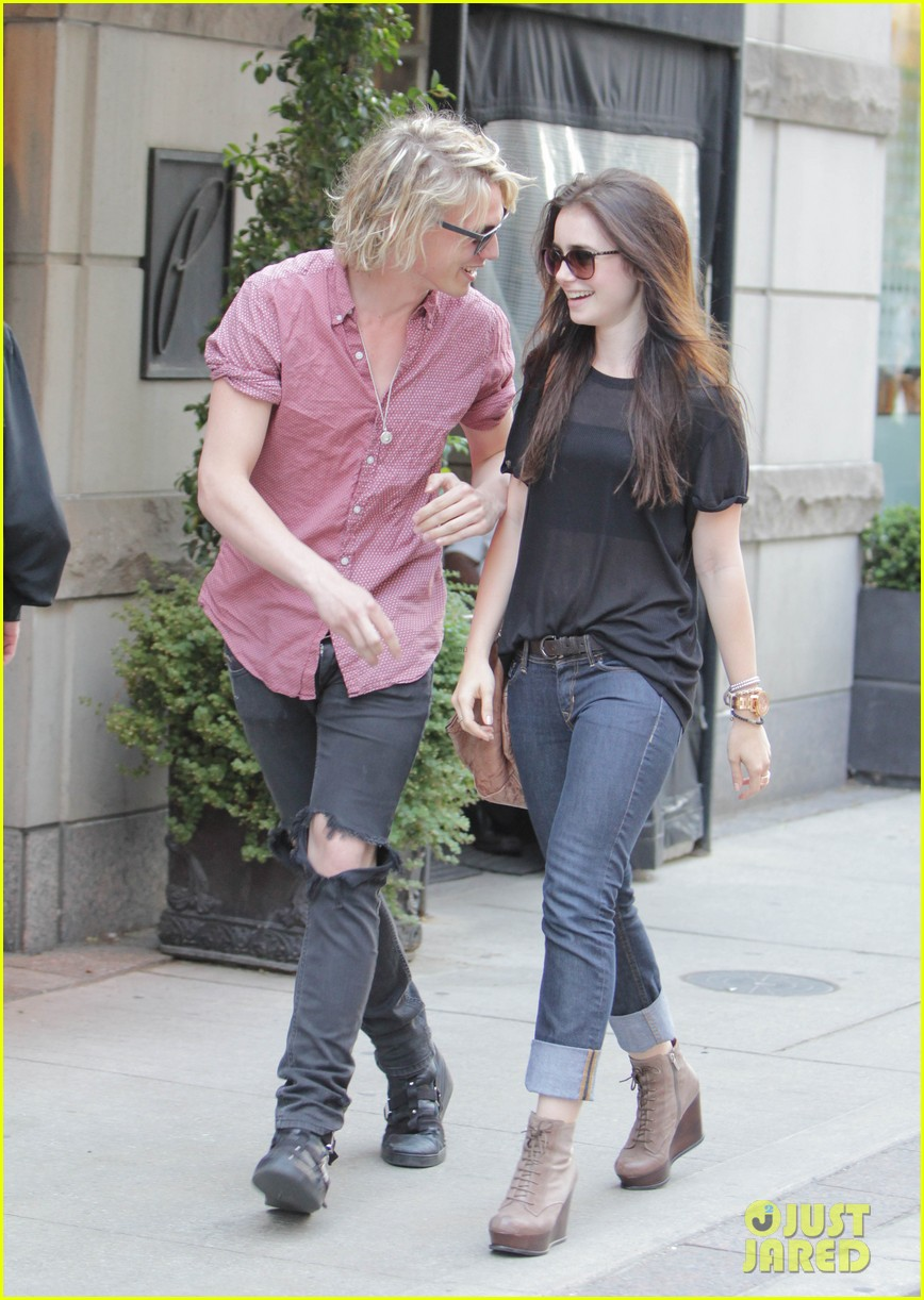 lily collins jamie campbell bower hold hands toronto 012685143