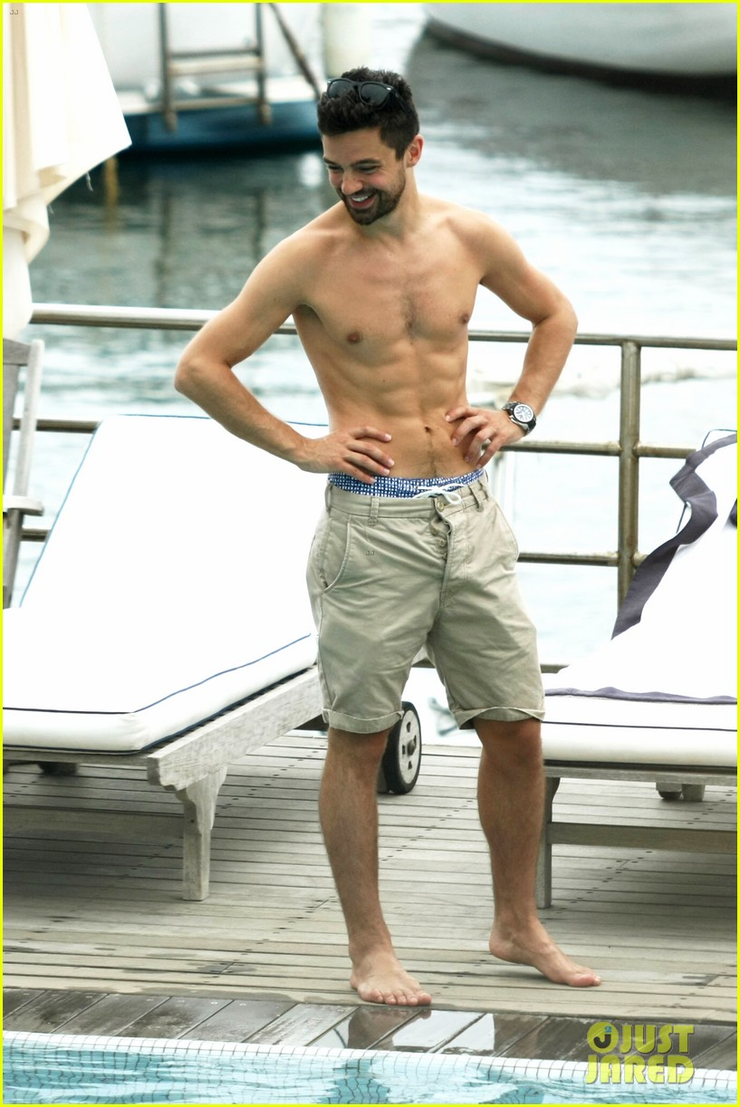 dominic cooper shirtless pda filled vacation with ruth negga 012686408