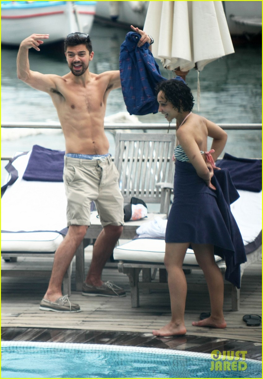 dominic cooper shirtless pda filled vacation with ruth negga 052686412