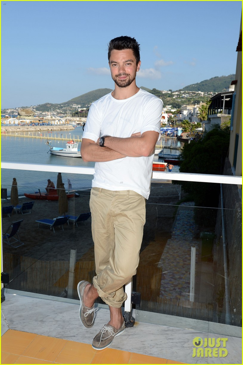 dominic cooper shirtless pda filled vacation with ruth negga 062686413