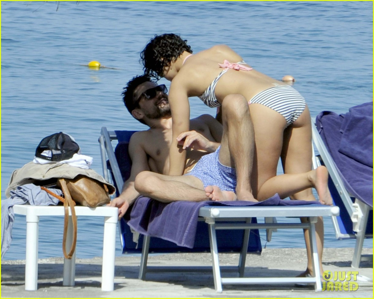 dominic cooper shirtless pda filled vacation with ruth negga 07