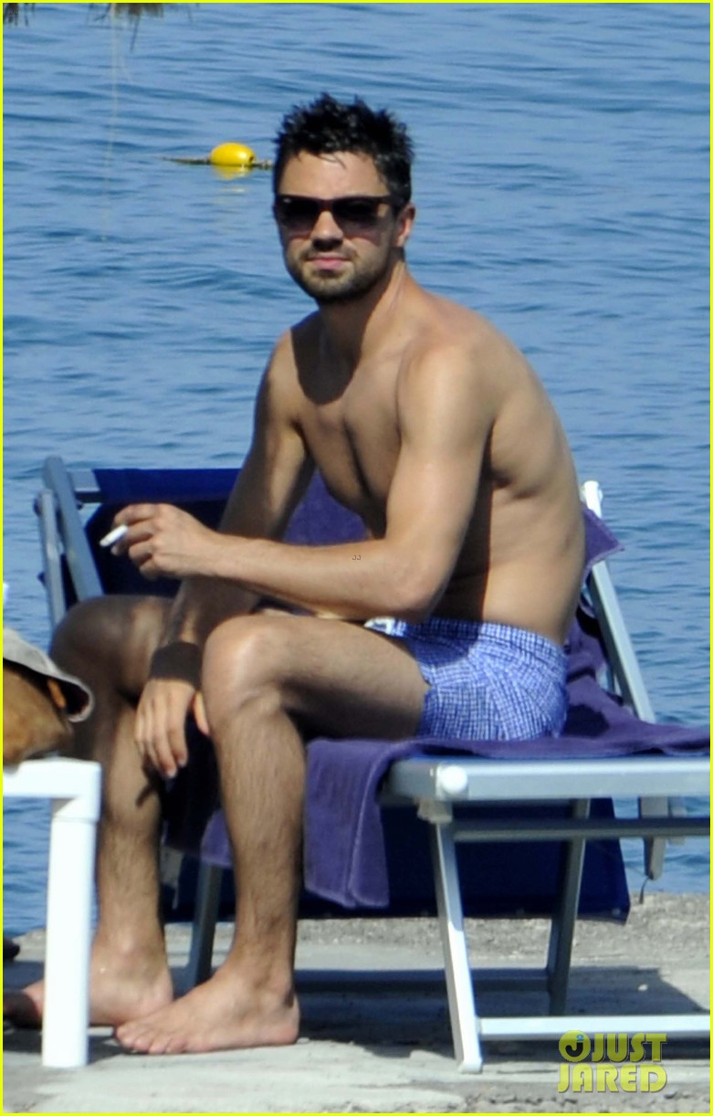 dominic cooper shirtless pda filled vacation with ruth negga 092686416