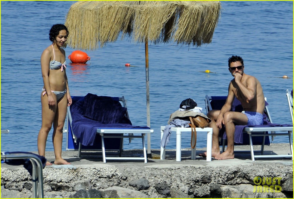 dominic cooper shirtless pda filled vacation with ruth negga 122686419