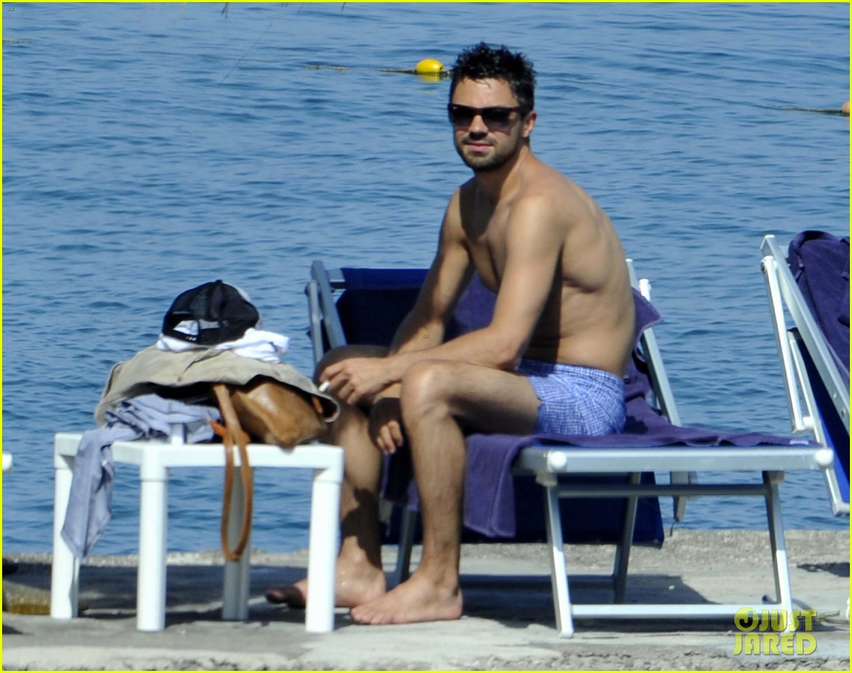 dominic cooper shirtless pda filled vacation with ruth negga 192686426
