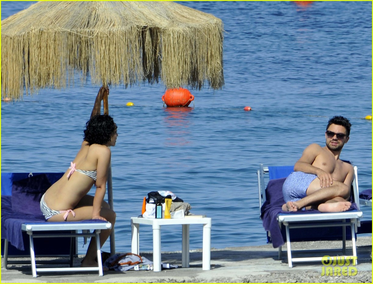 dominic cooper shirtless pda filled vacation with ruth negga 222686429