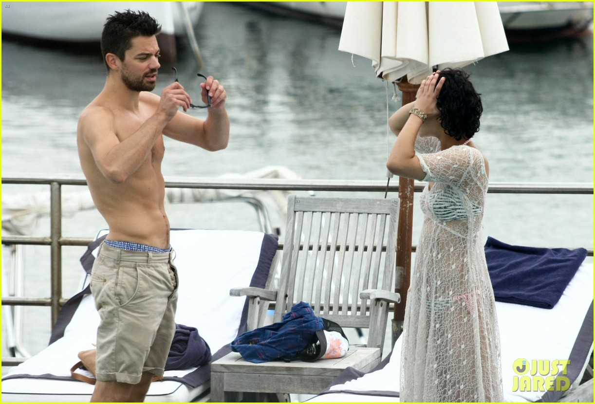 dominic cooper shirtless pda filled vacation with ruth negga 232686430