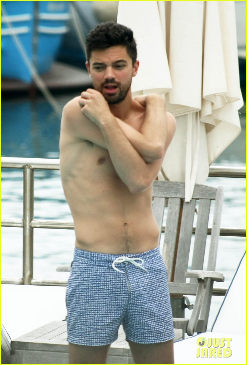 dominic cooper shirtless pda filled vacation with ruth negga 262686433