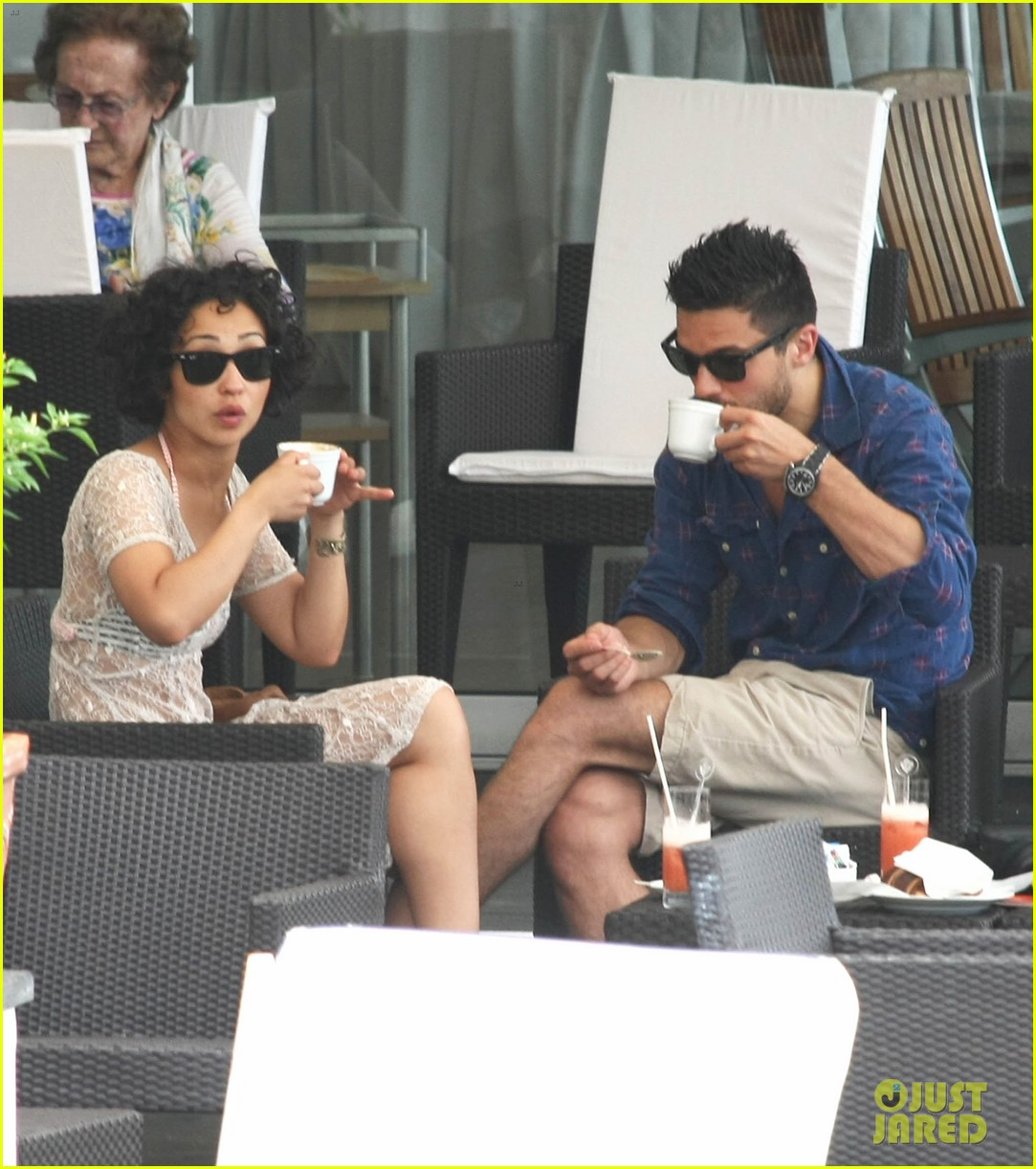 dominic cooper shirtless pda filled vacation with ruth negga 282686435