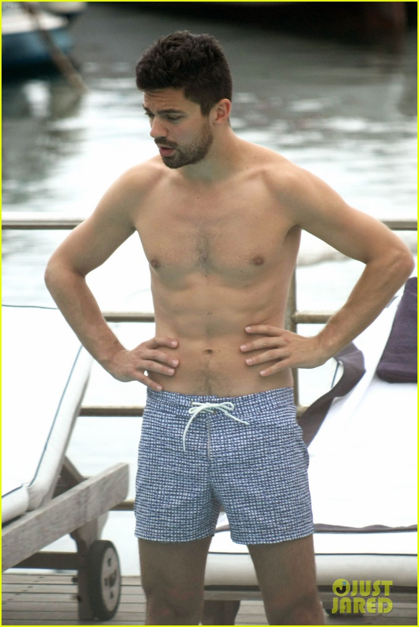 dominic cooper shirtless pda filled vacation with ruth negga 312686438