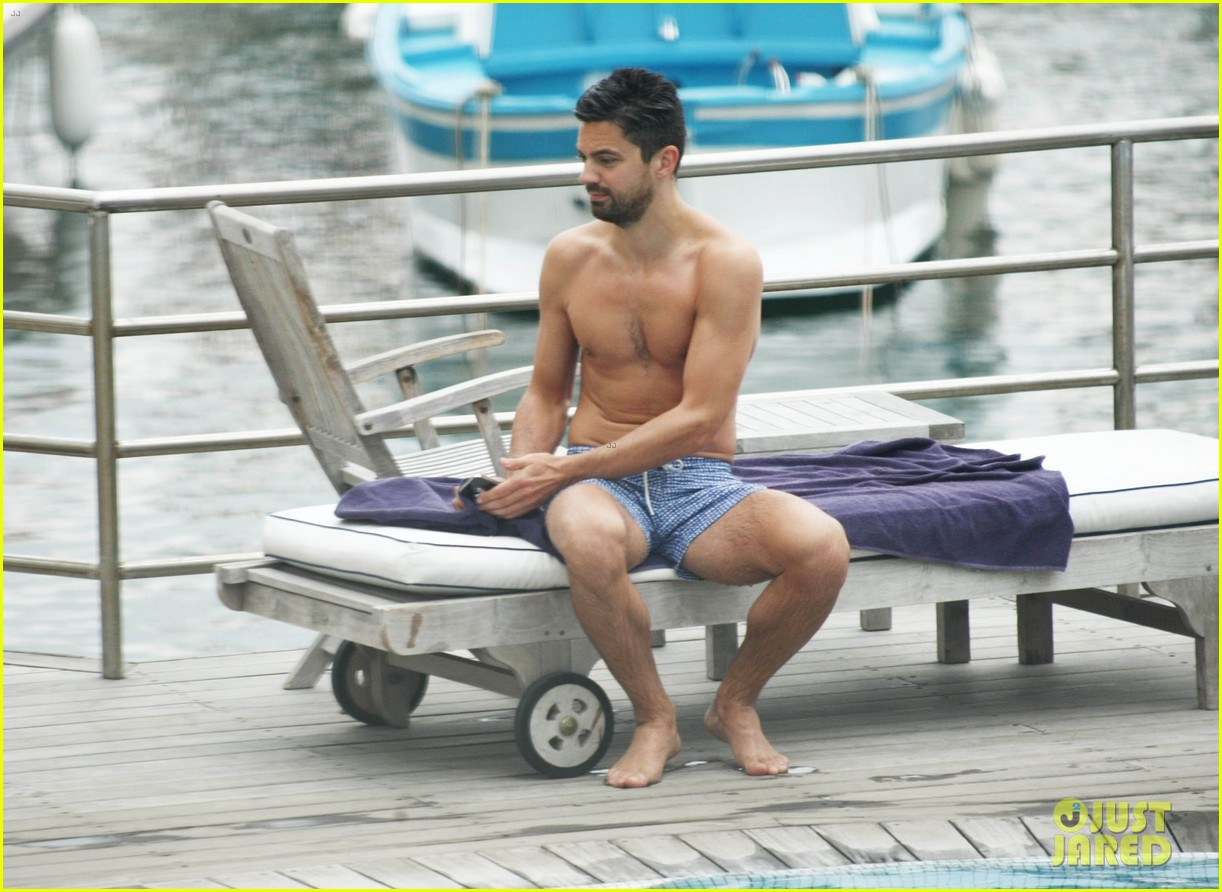 dominic cooper shirtless pda filled vacation with ruth negga 322686439