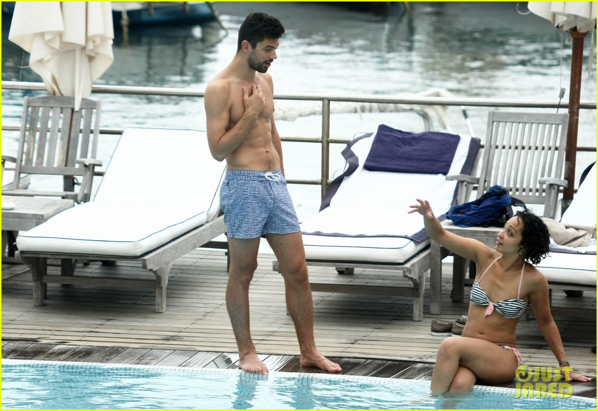 dominic cooper shirtless pda filled vacation with ruth negga 362686443