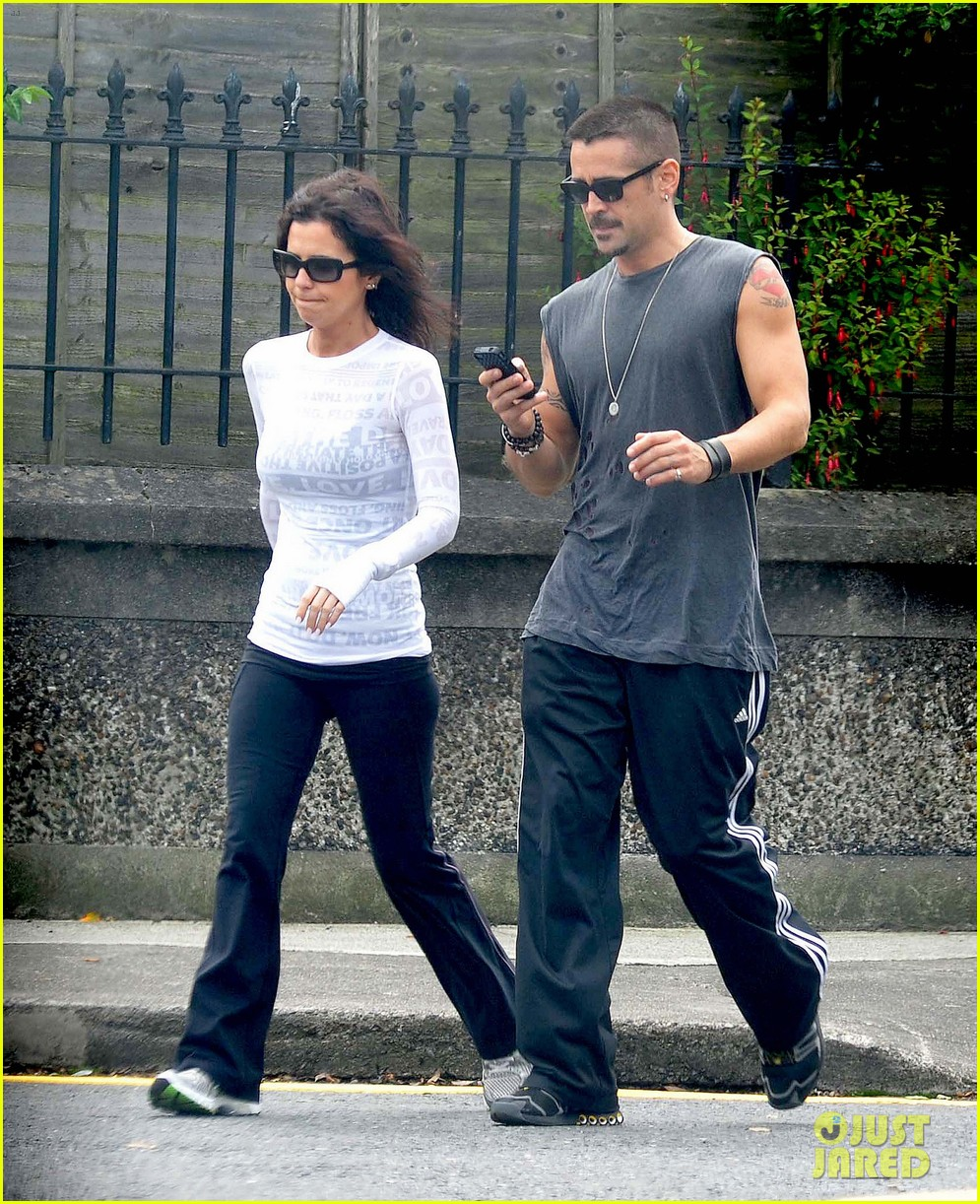colin farrell morning stroll with sis claudine 052683827