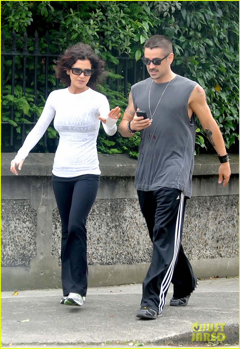 colin farrell morning stroll with sis claudine 072683829