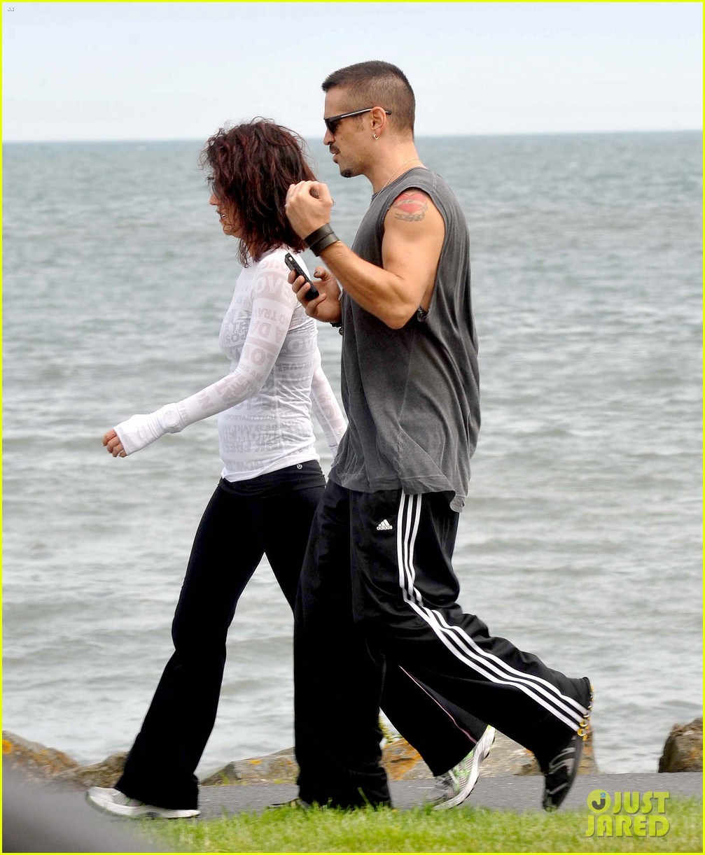 colin farrell morning stroll with sis claudine 102683832