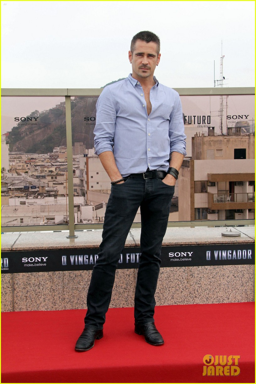 colin farrell total recall photocall 04
