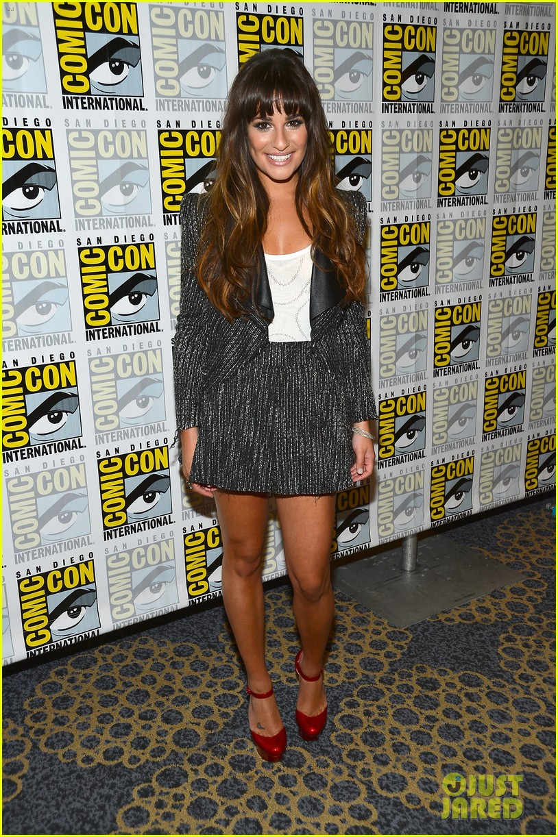 lea michele glee cast hits comic con 2012 122687492