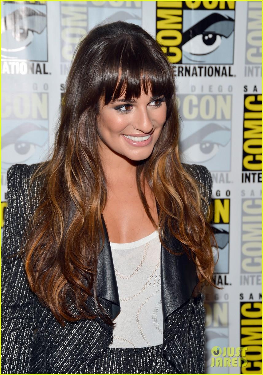 lea michele glee cast hits comic con 2012 222687502