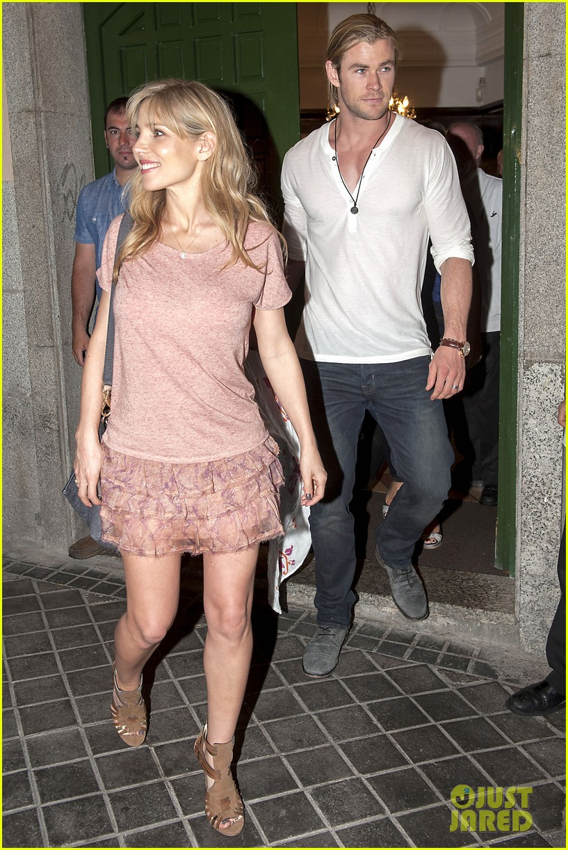 chris hemsworth amp india daddydaughter time in madrid
