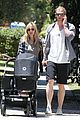 chris hemsworth elsa pataky santa monica stroll with baby india 09