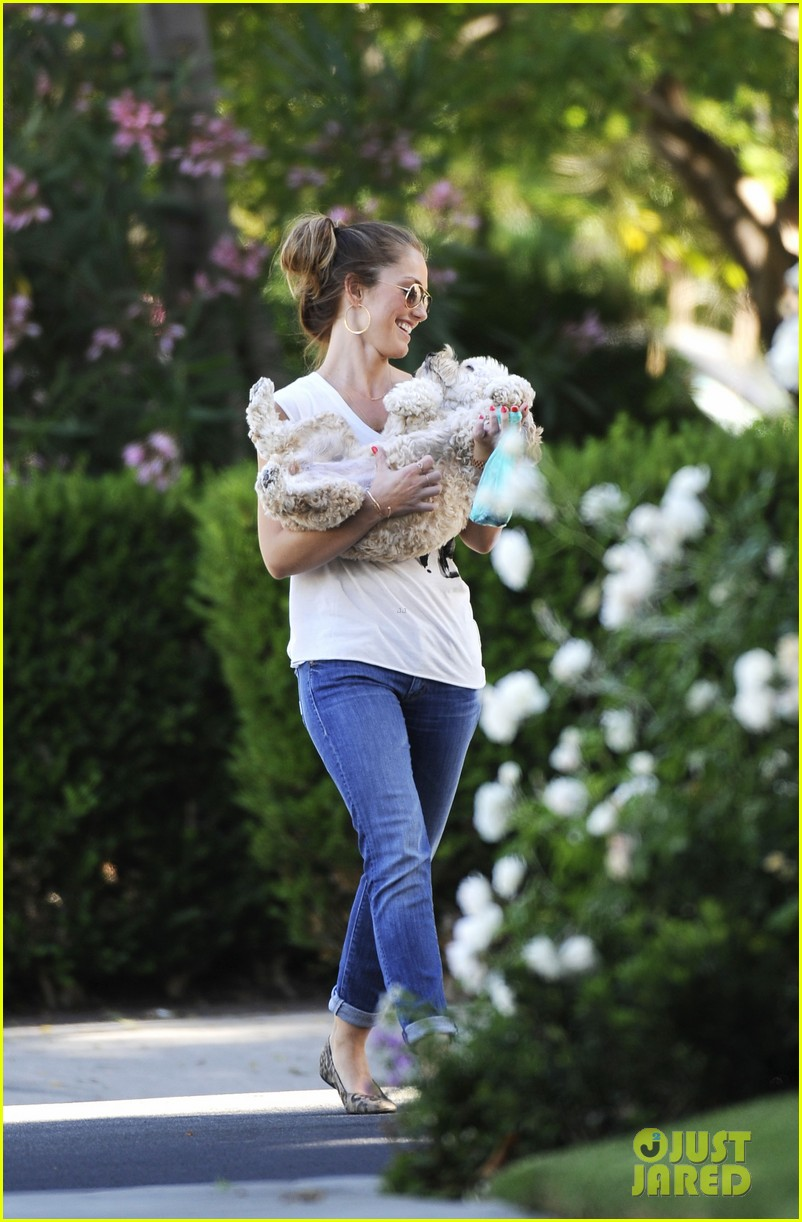 minka kelly walks dog 032681716