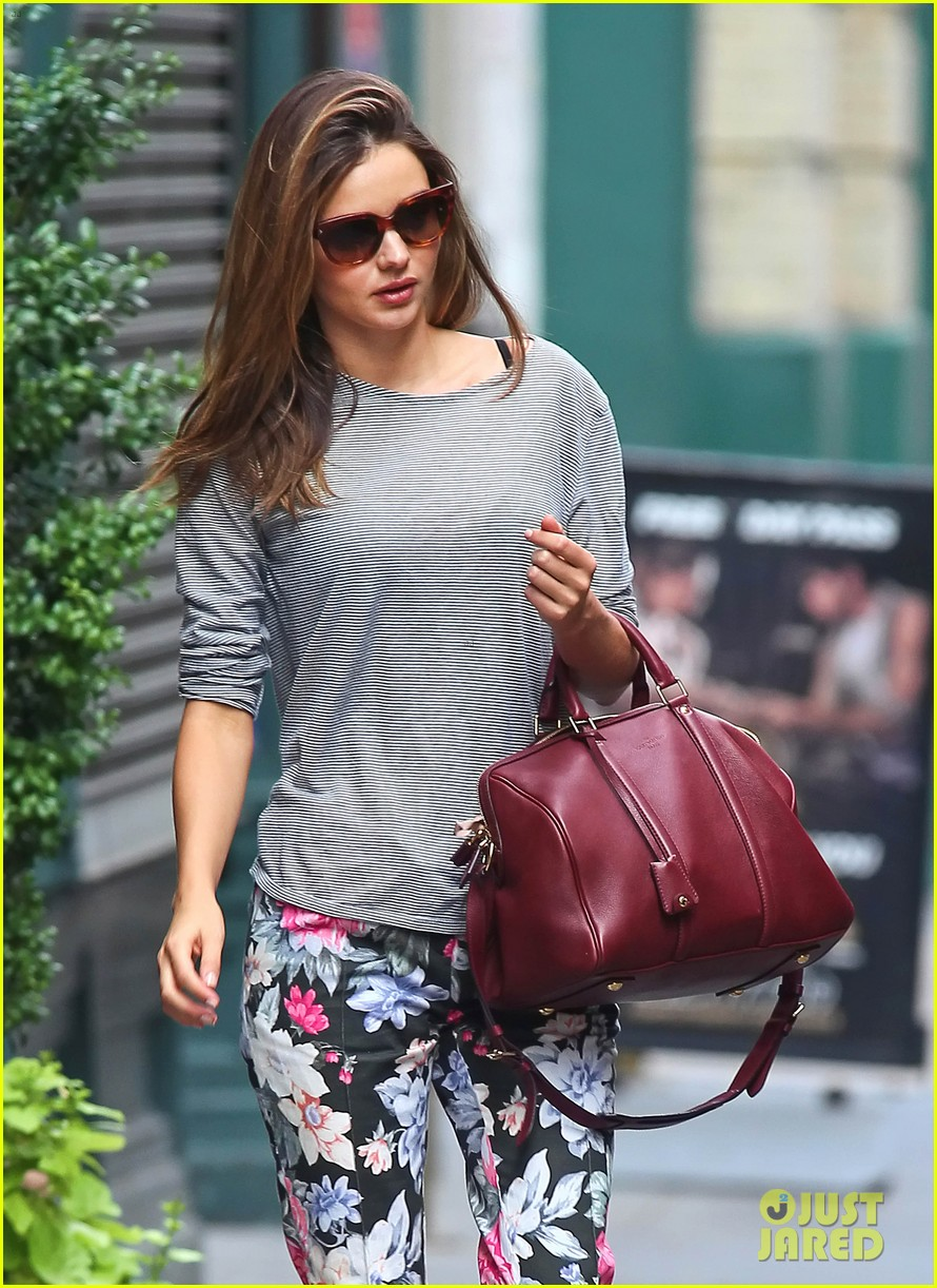 miranda kerr floral pants lover in nyc 062688246