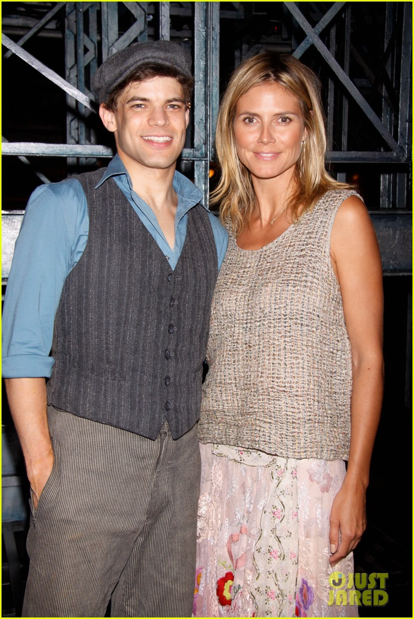 heidi klum broadways newsies with the kids 142684727