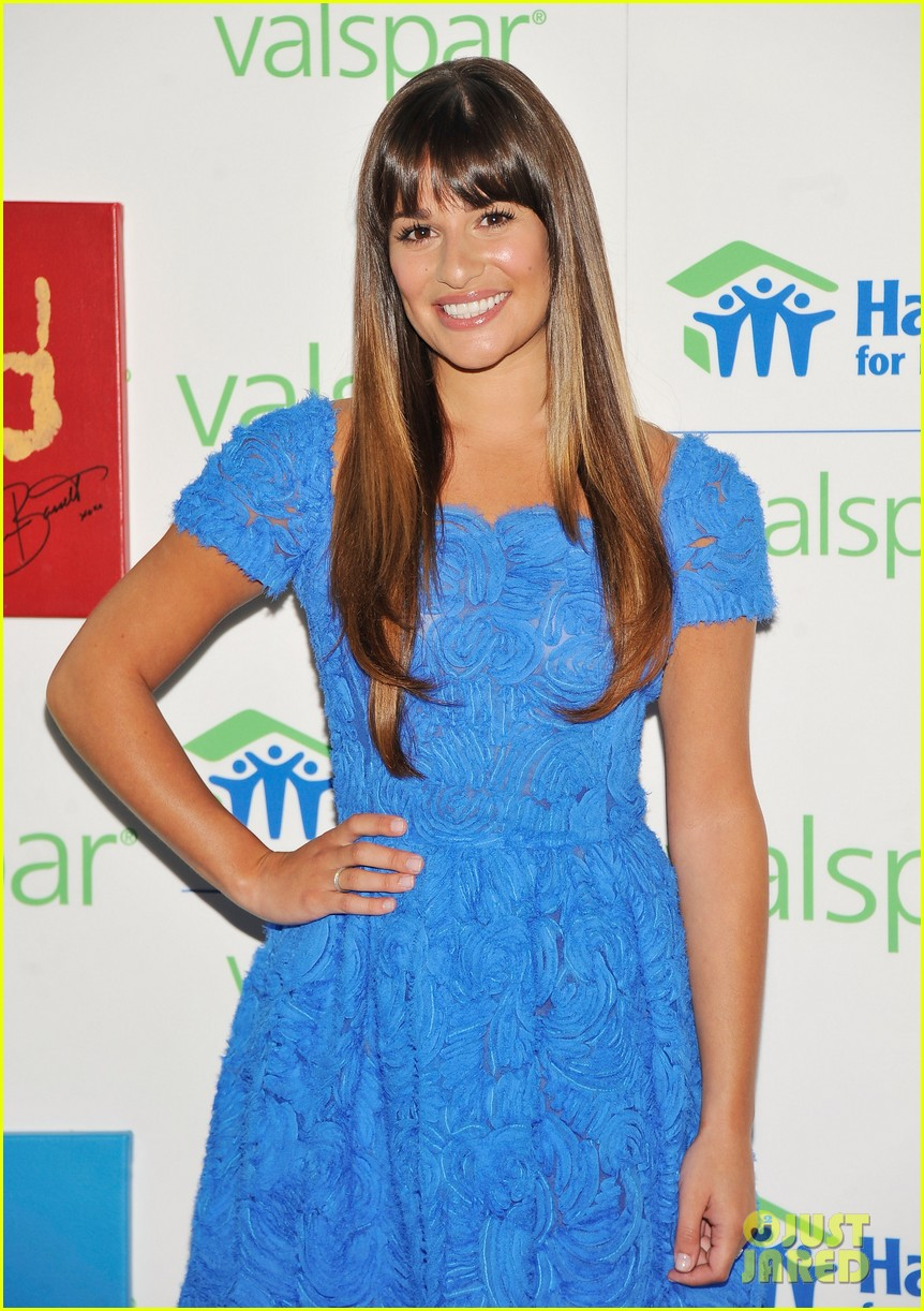 lea michele hands for habitat unveiling 022689848