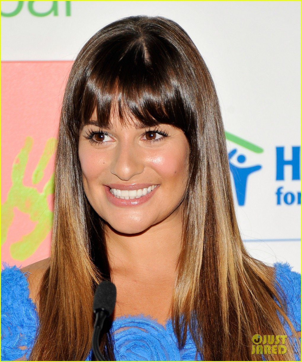lea michele hands for habitat unveiling 092689855