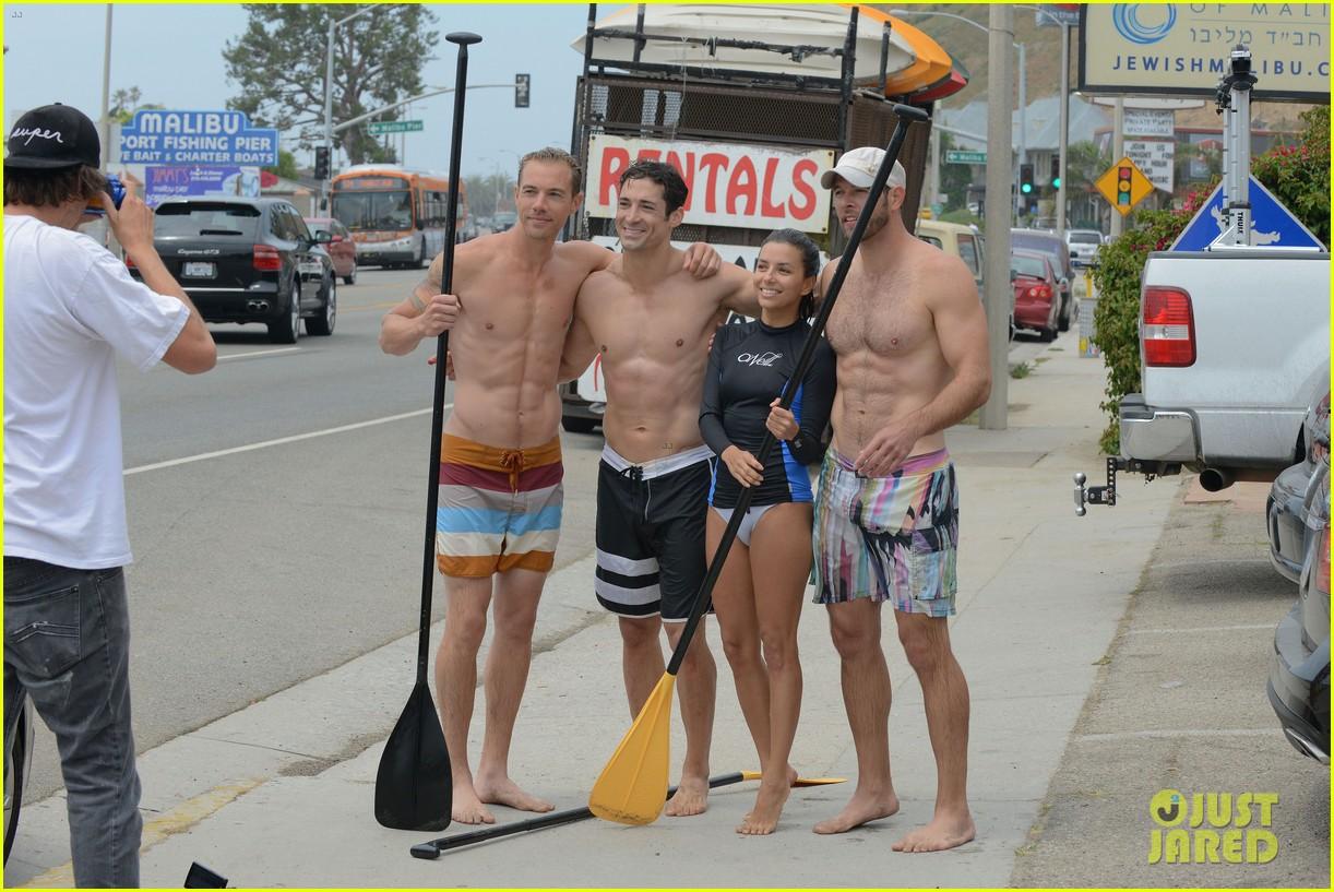 Eva Longoria Malibu Beach With Shirtless Ernesto Arguello Photo