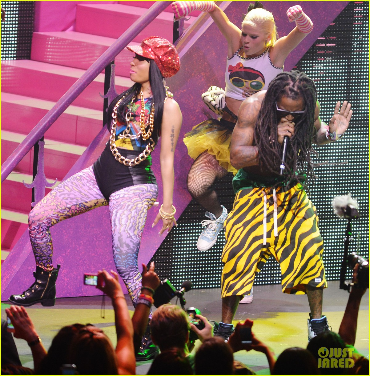 nicki minaj pink friday tour with lil wayne birdman 04