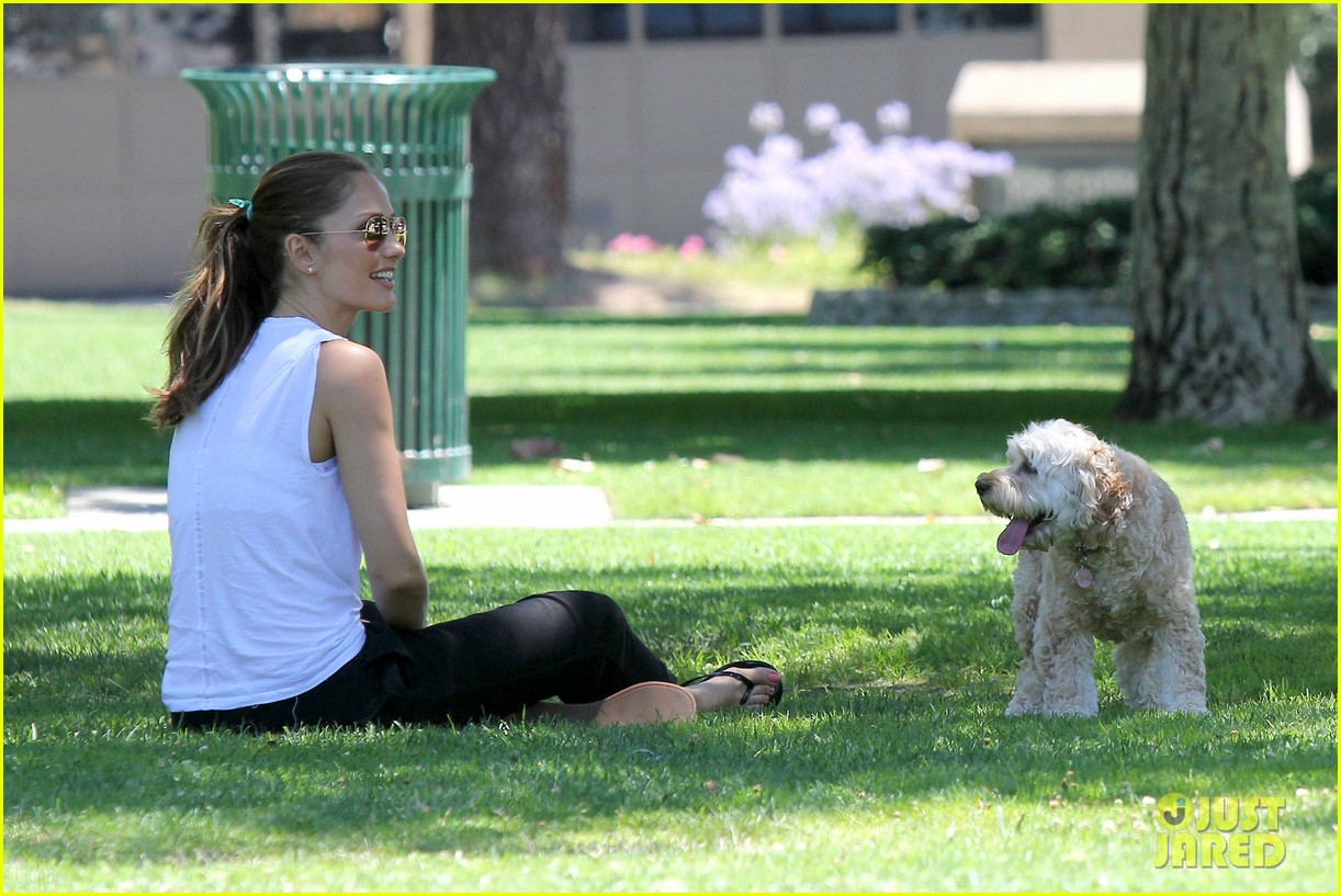 minka kelly chewy playing in the park 112689972